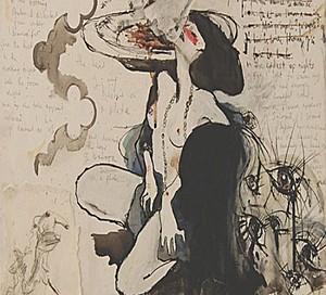 Картину, написанную кровью Эми Уайнхаус, продают за $128 тыс.
