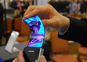 Samsung запускает в производство гибкие дисплеи