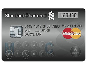 MasterCard представила карту с встроенной сенсорной клавиатурой