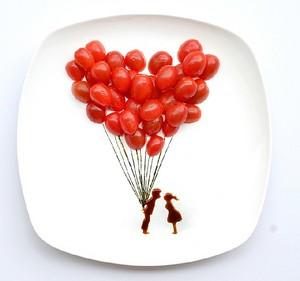 Как рисовать едой