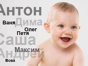 Самые популярные имена новорожденных в России 2012