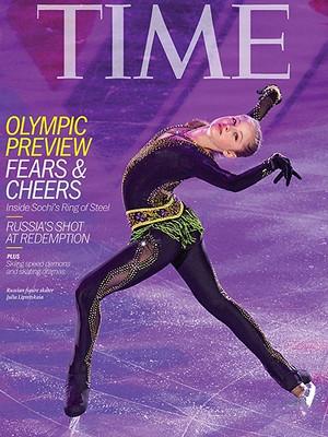 Юлия Липницкая вслед за Путиным украсила обложку журнала Time
