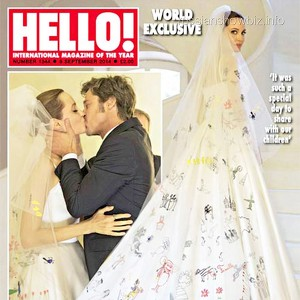 Фотографии свадьбы Джоли и Питта попали на страницы глянцевого журнала