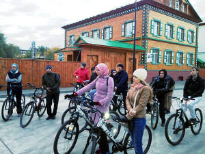 В Казани в честь Курбан-байрама мусульмане провели велопробег по мечетям города