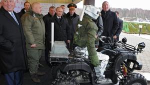 Путин встретился с боевым роботом-аватаром
